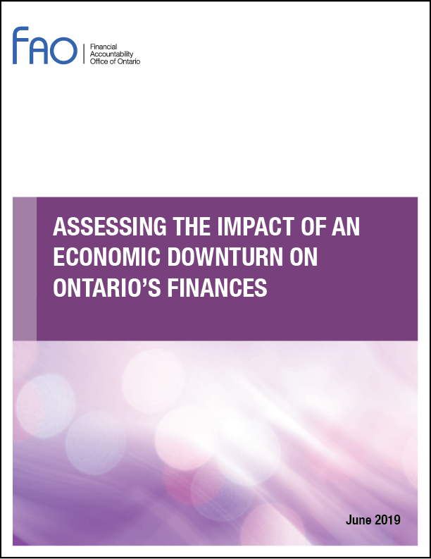 Assessing the Impact of an Economic Downturn on Ontario's Finances